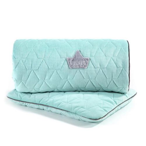 La Millou VELVET BLANKET & MID PILLOW | AUDREY MINT & GREY